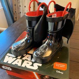 NWT Star Wars Darth Vader Rain Boots with Capes
